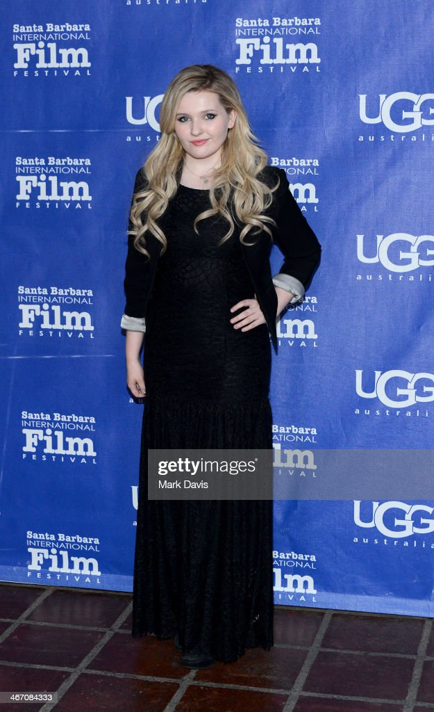Actress <a gi-track='captionPersonalityLinkClicked' href=/galleries/search?phrase=Abigail+Breslin&family=editorial&specificpeople=226628 ng-click='$event.stopPropagation()'>Abigail Breslin</a> attends the 29th Santa Barbara International Film Festival Montecito Award to Oprah Winfrey at the Arlington Theatre on February 5, 2014 in Santa Barbara, California.