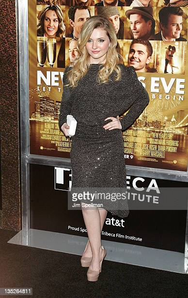 Actress Abigail Breslin attends the 'New Year's Eve' premiere at Ziegfeld Theatre on December 7 2011 in New York City