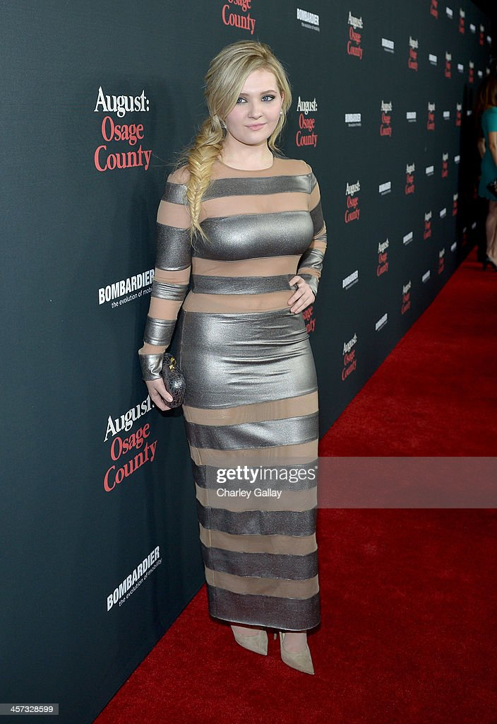 Actress Abigail Breslin attends the LA premiere Of 'August: Osage County' presented by The Weinstein Company in partnership with Bombardier at Regal Cinemas L.A. Live on December 16, 2013 in Los Angeles, California.