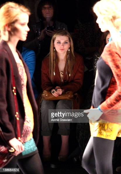 Actress Abigail Breslin attends the Rebecca Minkoff Fall 2012 fashion show for TRESemme during MercedesBenz Fashion Week Fall 2012 at Lincoln Center...