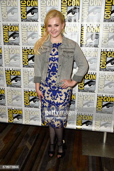 Actress Abigail Breslin attends the 'Scream Queens' press line during ComicCon International at Hilton Bayfront on July 22 2016 in San Diego...