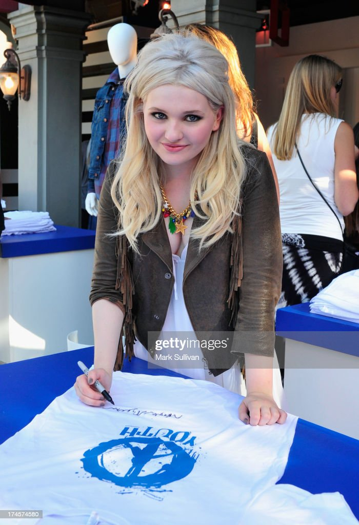 Actress Abigail Breslin attends Variety's Power of Youth presented by Hasbro Inc and generationOn at Universal Studios Backlot on July 27 2013 in...