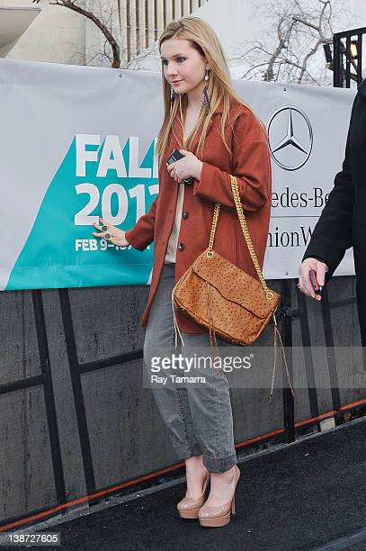 Actress Abigail Breslin leaves Fashion Week at Lincoln Center on February 10 2012 in New York City