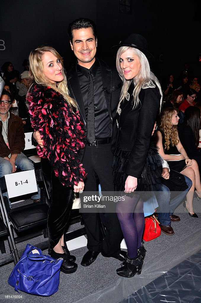 Actress Abigail Breslin;TV personality Rocco Leo Gaglioti, and Emily Basche attend Pamella Roland during Fall 2013 Mercedes-Benz Fashion Week at The Studio at Lincoln Center on February 11, 2013 in New York City.