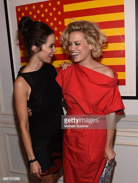 Actress Abigail Spencer and actress Bethany Joy Lenz attend the Dinner and Conversation with the creators of Sundance Channel's 'Rectify' hosted by...