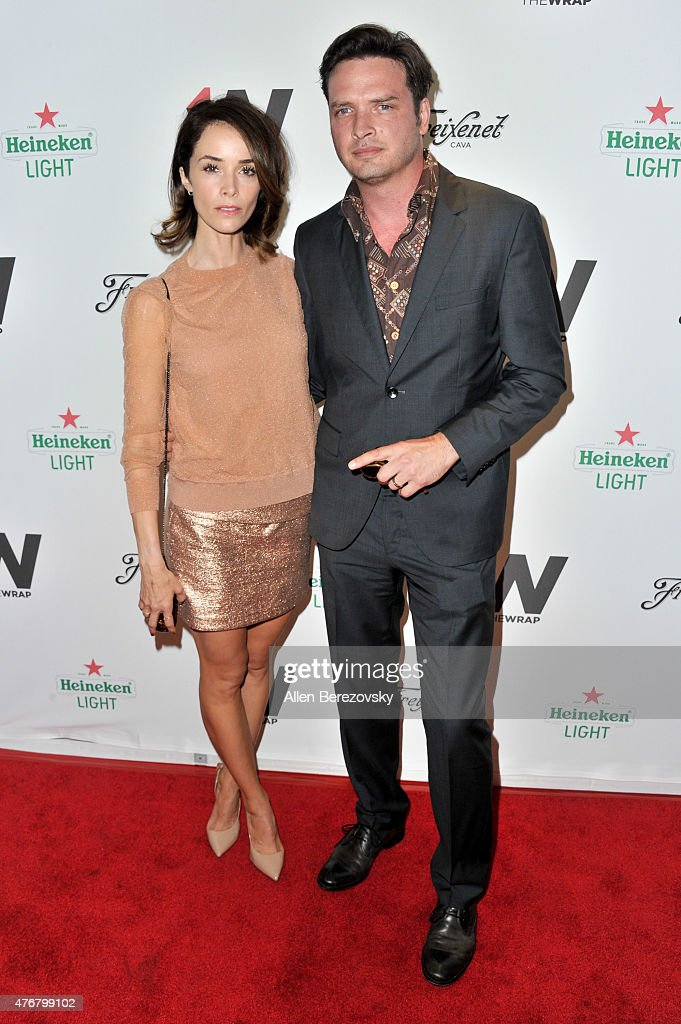 Actress Abigail Spencer and Aden Yang arrive at TheWrap's 2nd Annual Emmy Party at The London Hotel on June 11 2015 in West Hollywood California