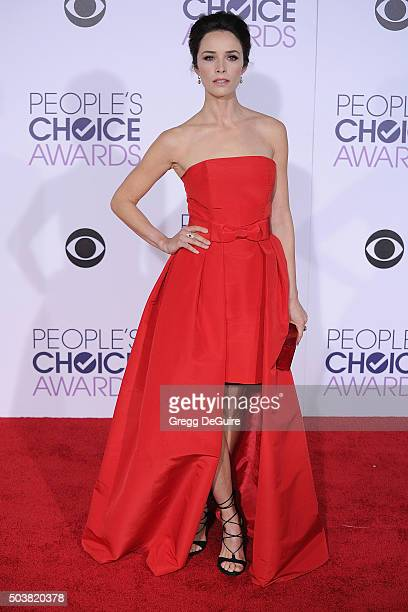Actress Abigail Spencer arrives at the 2016 People's Choice Awards at Microsoft Theater on January 6 2016 in Los Angeles California