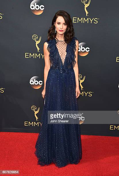 Actress Abigail Spencer arrives at the 68th Annual Primetime Emmy Awards at Microsoft Theater on September 18 2016 in Los Angeles California