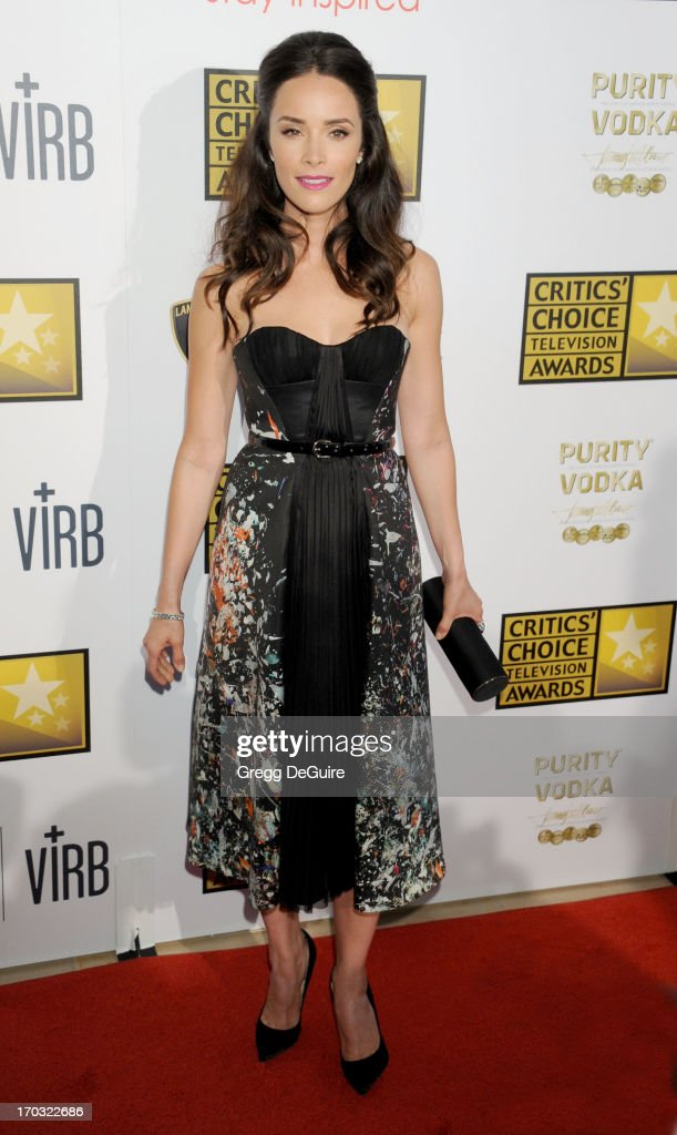 Actress <a gi-track='captionPersonalityLinkClicked' href=/galleries/search?phrase=Abigail+Spencer&family=editorial&specificpeople=748117 ng-click='$event.stopPropagation()'>Abigail Spencer</a> arrives at the Broadcast Television Journalists Association 3rd Annual Critics' Choice Television Awards at The Beverly Hilton Hotel on June 10, 2013 in Beverly Hills, California.