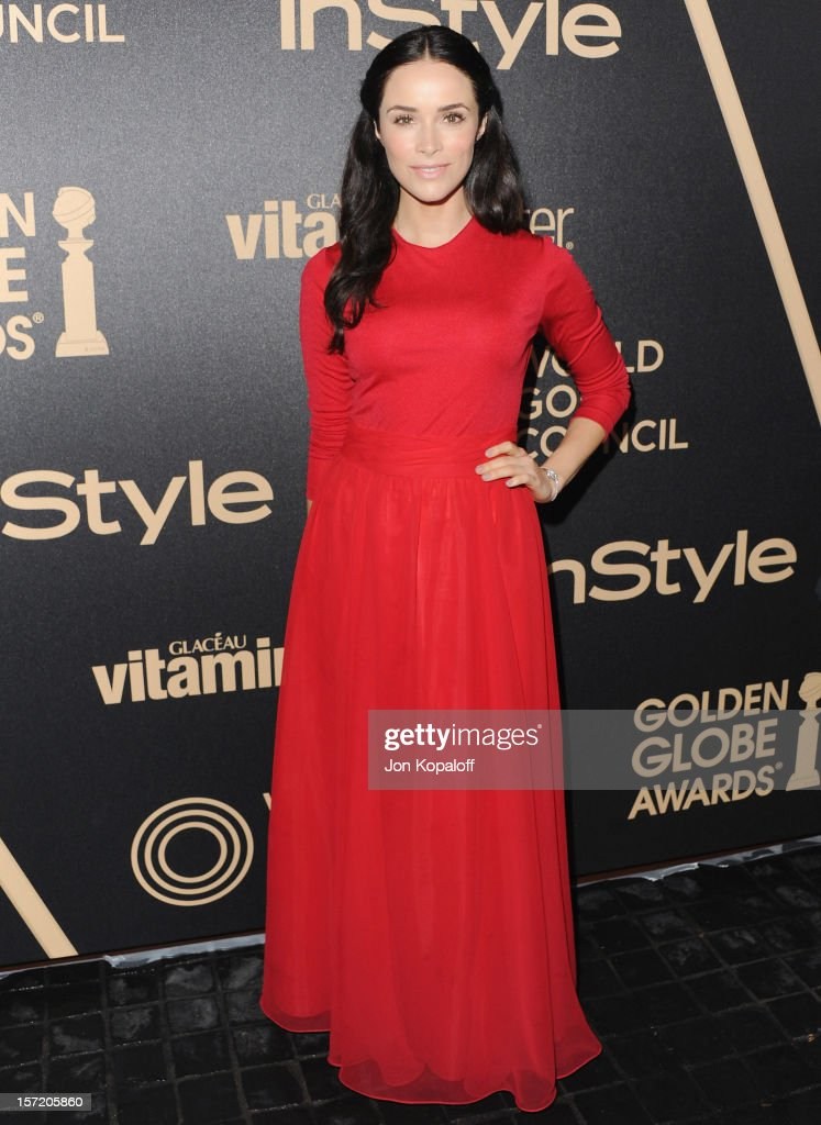 Actress Abigail Spencer arrives at The Hollywood Foreign Press Association And InStyle Miss Golden Globe 2013 Party at Cecconi's Restaurant on November 29, 2012 in Los Angeles, California.