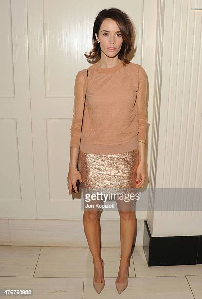 Actress Abigail Spencer arrives at TheWrap's 2nd Annual Emmy Party at The London on June 11 2015 in West Hollywood California