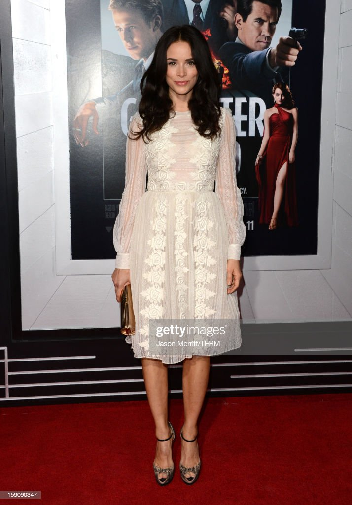 Actress Abigail Spencer arrives at Warner Bros. Pictures' 'Gangster Squad' premiere at Grauman's Chinese Theatre on January 7, 2013 in Hollywood, California.