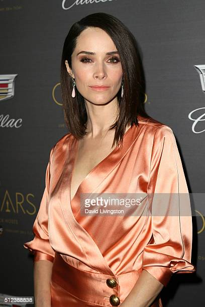 Actress Abigail Spencer attends Cadillac's PreOscar Event at Chateau Marmont on February 25 2016 in Los Angeles California
