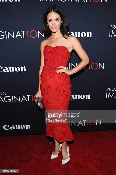 Actress Abigail Spencer attends Canon's 'Project Imaginat10n' Film Festival opening night at Alice Tully Hall at Lincoln Center on October 24 2013 in...
