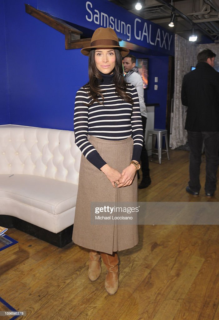 Actress Abigail Spencer attends Day 1 of Samsung Galaxy Lounge at Village At The Lift 2013 on January 18, 2013 in Park City, Utah.