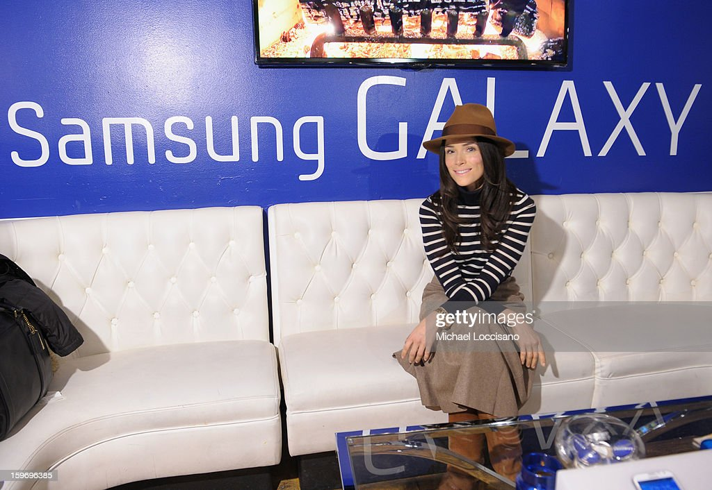 Actress <a gi-track='captionPersonalityLinkClicked' href=/galleries/search?phrase=Abigail+Spencer&family=editorial&specificpeople=748117 ng-click='$event.stopPropagation()'>Abigail Spencer</a> attends Day 1 of Samsung Galaxy Lounge at Village At The Lift 2013 on January 18, 2013 in Park City, Utah.