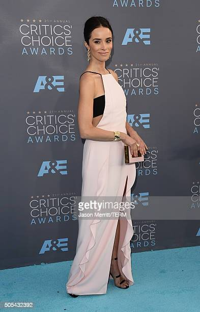 Actress Abigail Spencer attends the 21st Annual Critics' Choice Awards at Barker Hangar on January 17 2016 in Santa Monica California