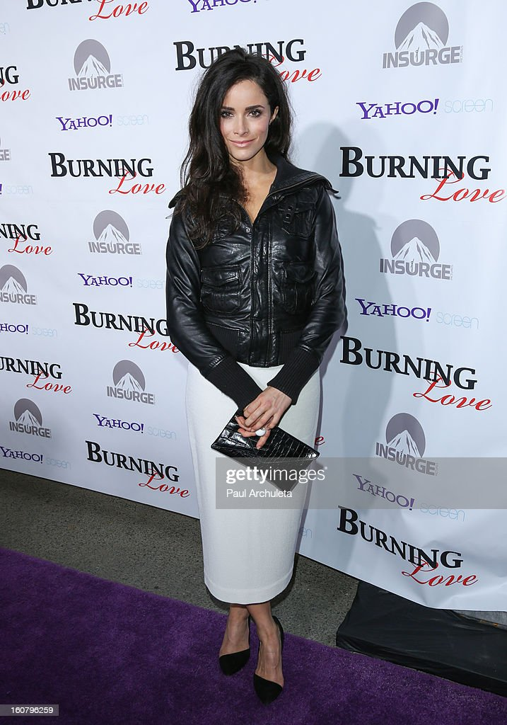 Actress Abigail Spencer attends the 'Burning Love' Season 2 Los Angeles Premiere at Paramount Theater on the Paramount Studios lot on February 5, 2013 in Hollywood, California.