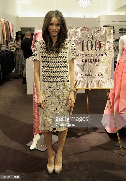 Actress Abigail Spencer attends the Hal Rubenstein signing of '100 Unforgettable Dresses' at Decades on November 2 2011 in Los Angeles California