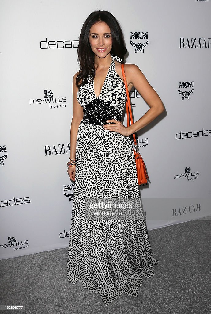Actress <a gi-track='captionPersonalityLinkClicked' href=/galleries/search?phrase=Abigail+Spencer&family=editorial&specificpeople=748117 ng-click='$event.stopPropagation()'>Abigail Spencer</a> attends the Harper's BAZAAR celebration of Cameron Silver and Christos Garkinos of Decades new Bravo series 'Dukes of Melrose' at The Terrace at Sunset Tower on February 28, 2013 in West Hollywood, California.