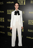 Actress Abigail Spencer attends the Hollywood Foreign Press Association and InStyle's celebration of the 2015 Golden Globe award season at Fig Olive...
