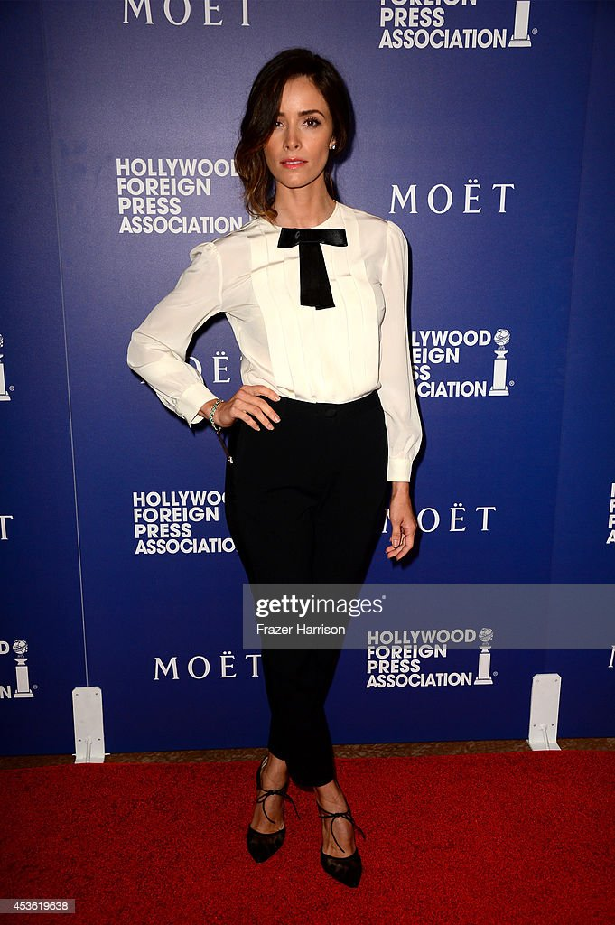 Actress <a gi-track='captionPersonalityLinkClicked' href=/galleries/search?phrase=Abigail+Spencer&family=editorial&specificpeople=748117 ng-click='$event.stopPropagation()'>Abigail Spencer</a> attends the Hollywood Foreign Press Association's Grants Banquet at The Beverly Hilton Hotel on August 14, 2014 in Beverly Hills, California.