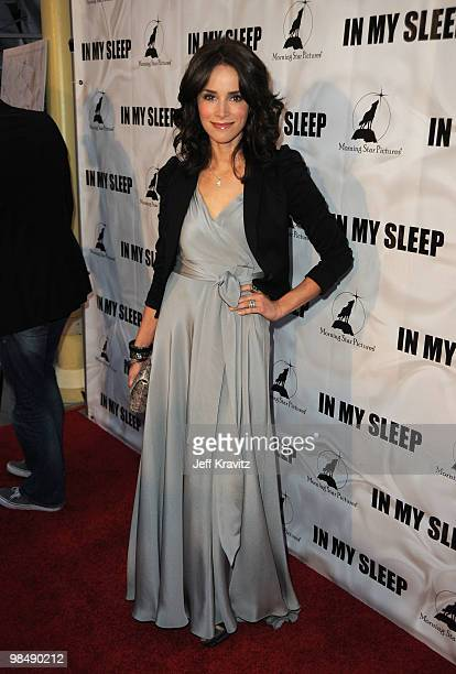 Actress Abigail Spencer attends the 'In My Sleep' Los Angeles premiere at the ArcLight Cinemas on April 15 2010 in Hollywood California