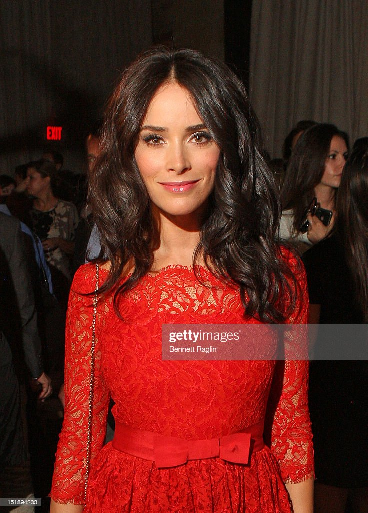 Actress Abigail Spencer attends the Marchesa show during Spring 2013 Mercedes-Benz Fashion Week at Grand Central Terminal on September 12, 2012 in New York City.