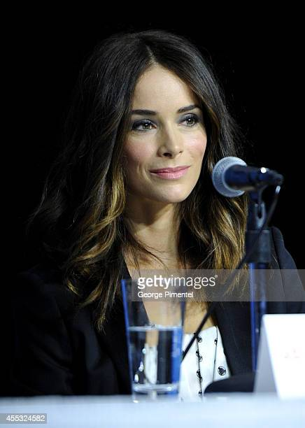 Actress Abigail Spencer speaks onstage at 'The Forger' Press Conference during the 2014 Toronto International Film Festival at TIFF Bell Lightbox on...