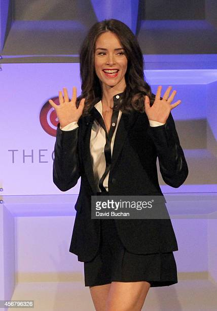 Actress Abigail Spencer speaks onstage during day two of TheWrap TheGrill 2014 at Montage Beverly Hills on October 7 2014 in Beverly Hills California