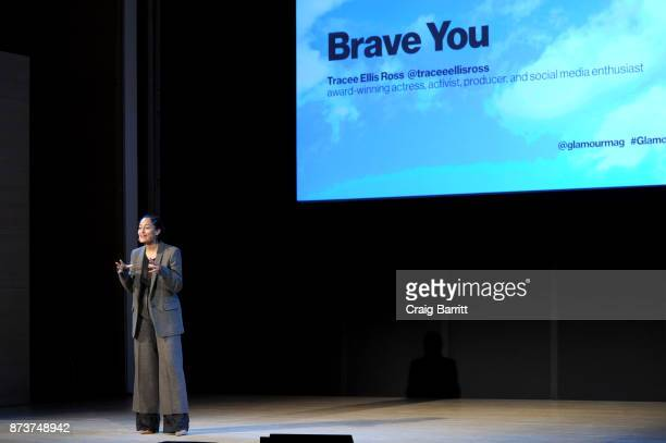 Actress Activist Tracee Ellis Ross speaks onstage during Glamour Celebrates 2017 Women Of The Year Live Summit at Brooklyn Museum on November 13 2017...