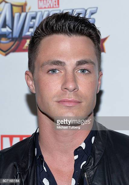 Actress Actor Colton Haynes attends the MARVEL Avengers Academy's Party at Teragram Ballroom on January 27 2016 in Los Angeles California