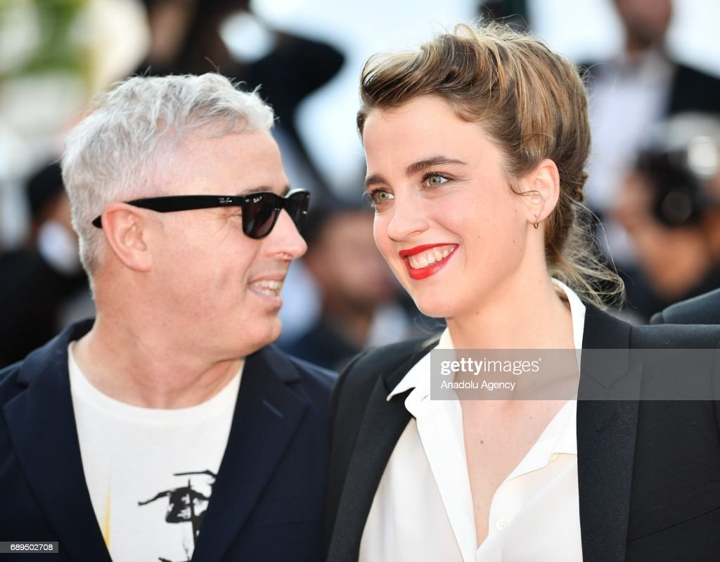 Actress Actress Adele Haenel (R) and French director Robin Campillo arrive for the Closing Awards Ceremony of the 70th annual Cannes Film Festival in Cannes, France on May 28, 2017.