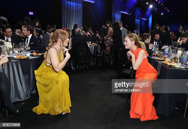 Actress Actress Bryce Dallas Howard and actress Leslie Mann at the 22nd Annual Critics' Choice Awards presented by Landmark Vineyards at Barker...