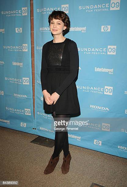 Actress Actress Carey Mulligan attends the premiere of 'The Greatest' during the 2009 Sundance Film Festival at Eccles Theatre on January 17 2009 in...