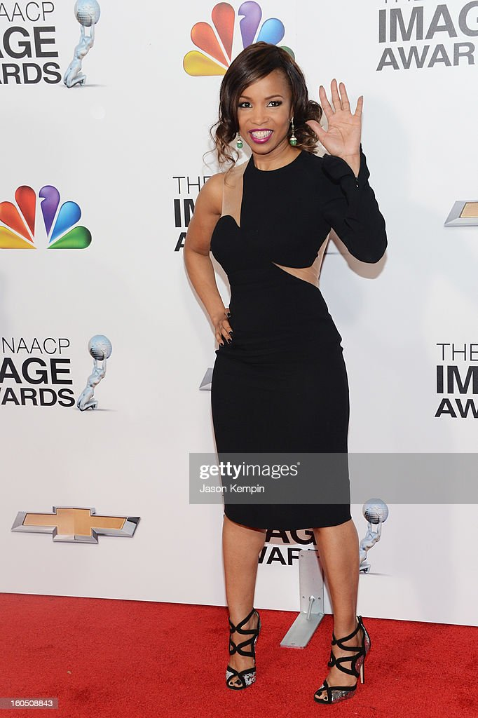 Actress Actress Elise Neal arrives at the 44th NAACP Image Awards held at The Shrine Auditorium on February 1, 2013 in Los Angeles, California.