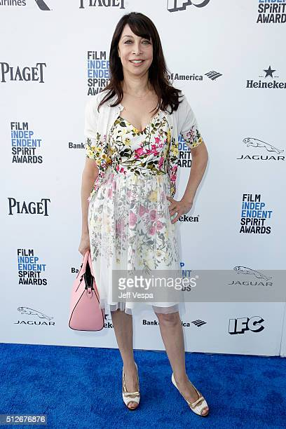 Actress Actress Illeana Douglas attends the 2016 Film Independent Spirit Awards on February 27 2016 in Santa Monica California