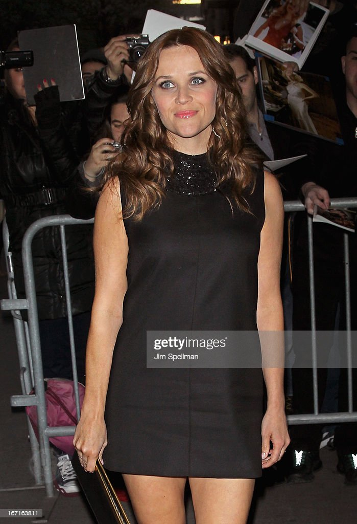 Actress Actress <a gi-track='captionPersonalityLinkClicked' href=/galleries/search?phrase=Reese+Witherspoon&family=editorial&specificpeople=201577 ng-click='$event.stopPropagation()'>Reese Witherspoon</a> attends the Cinema Society with FIJI Water & Levi's screening of 'Mud' at The Museum of Modern Art on April 21, 2013 in New York City.