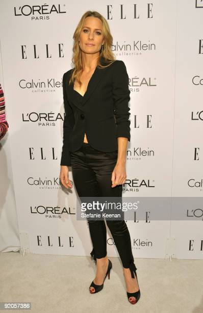 Actress Actress Robin Wright Penn arrives at the 16th Annual ELLE Women in Hollywood Tribute at the Four Seasons Hotel on October 19 2009 in Beverly...