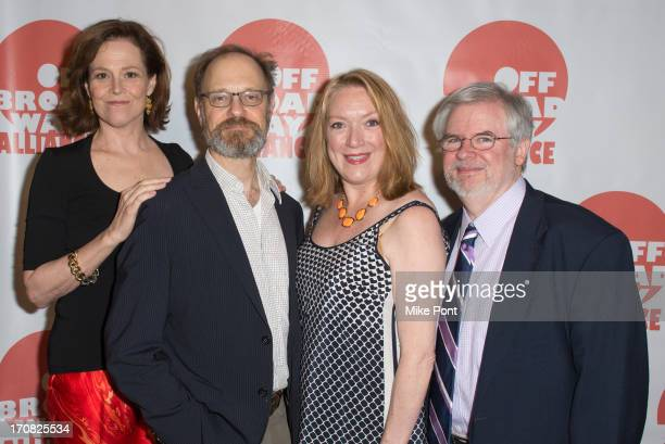 Actress Actress Sigourney Weaver Actor David Hyde Pierce Actress Kristine Nielsen and Playwright Christopher Durang attend The 3rd Annual Off...