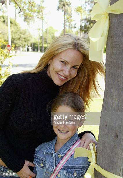 HILLS CA APRIL 6 Actress Actress Tawny Kitaen and her daughter Wynter Finley attend Yellow Ribbon Sunday at Will Rogers Memorial Park April 6 2003 in...