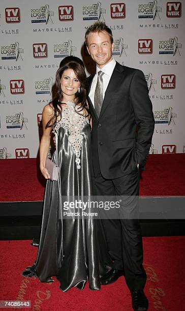 Actress Ada Nicodemou and Tim Campbell arrive at the 2007 TV Week Logie Awards at the Crown Casino on May 6 2007 in Melbourne Australia The annual...