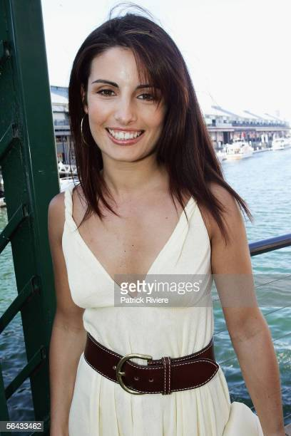 Actress Ada Nicodemou attends the Channel 7 Cocktail Party in Pyrmont on December 14 2005 in Sydney Australia