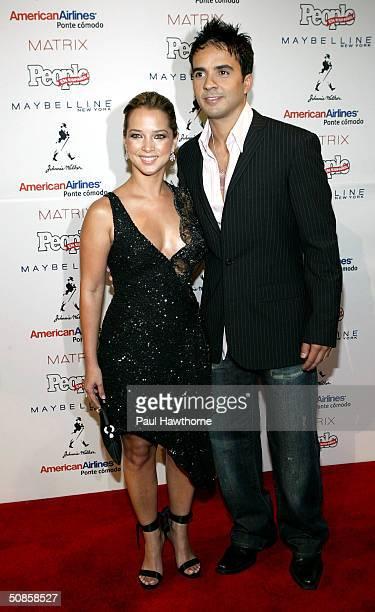Actress Adamari Lopez and singer/songwriter Luis Fonsi attend the 'People En Espanol' 50 Most Beautiful People Gala at Splashlight Studios May 19...