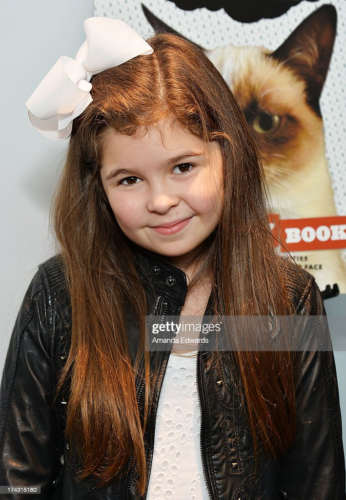 Actress Addison Riecke at Kitson Santa Monica to promote Grump Cat's new book 'Grumpy Cat : A Grumpy Book' on July 23, 2013 in Santa Monica, California.