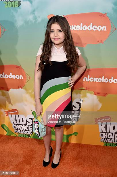 Actress Addison Riecke attends Nickelodeon's 2016 Kids' Choice Awards at The Forum on March 12 2016 in Inglewood California