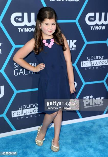 Actress Addison Riecke attends the 2014 Young Hollywood Awards brought to you by Samsung Galaxy at The Wiltern on July 27 2014 in Los Angeles...