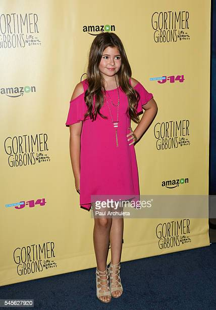 Actress Addison Riecke attends the celebration for Amazon's 'Gortimer Gibbon's Live On Normal Street' season 2 at Racer's Edge Indoor Karting on July...