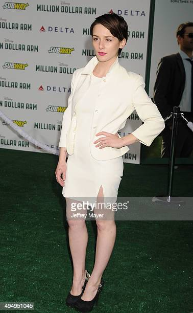 Actress Addison Timlin arrives at the Los Angeles premiere of 'Million Dollar Arm' at the El Capitan Theatre on May 6 2014 in Hollywood California