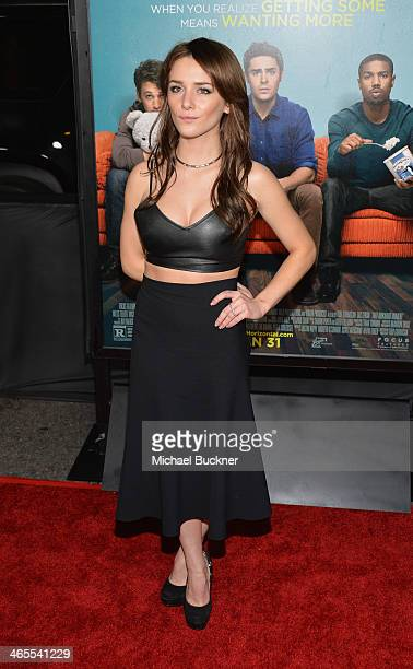 Actress Addison Timlin arrives at the premiere of Focus Features' 'That Awkward Moment' at Regal Cinemas LA Live on January 27 2014 in Los Angeles...